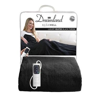 Dreamland Intelliheat Luxury Heated Throw - Black | 16769D
