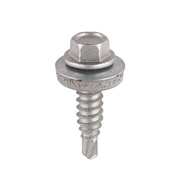 Timco Hex Head Tech Self Drilling Screws with EPDM Washer 6.3 x 25mm 100 Pack | S25W16B