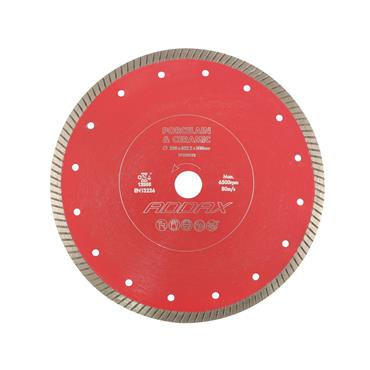 Addax Porcelain & Ceramic Tile Saw Blade - Thin Turbo 180MM X 22.23MM