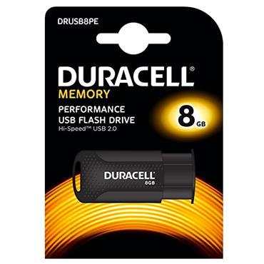 Duracell 8gb USB 2.0 Flash Drive USB Memory Stick | 39-DRUSB8PE