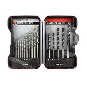 Addax HSS Steel & Masonry Drill Set 17 Piece | MIX17SET