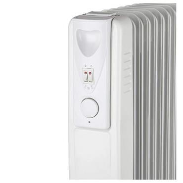 Warmlite 1500W 7 Fin Oil Filled Radiator - White