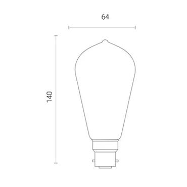 Wiz ST64 Amber White WiFi LED Smart Bulb - B22 | 4L1/8010