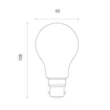 Wiz A60 Amber White WiFi LED Smart Bulb - B22 | 4L1/8012