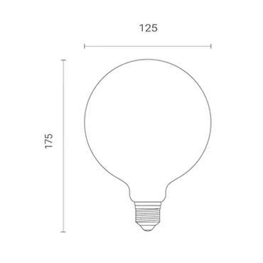 Wiz G125 Amber White WiFi Globe LED Smart Bulb - E27 | 4L1/8018