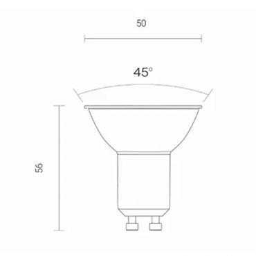 Wiz Multicolour WiFi LED Smart Bulb - GU10 | 4L1/8040