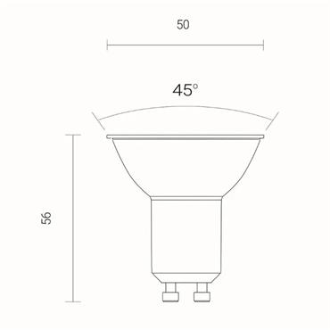Wiz Warm White WiFi LED Smart Bulb - GU10 | 4L1/8041