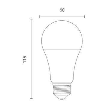 Wiz A60 Multicolour Dimmable WiFi LED Smart Bulb - E27 | 4L1/8003