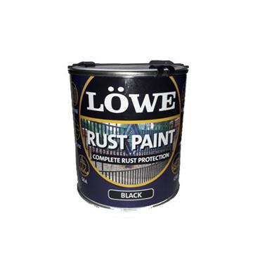 Lowe 1 Litre Rust and Metal Paint - Black | LRBL0150