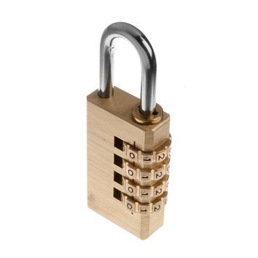 Tessi 40mm Brass Combination Padlock | TECOM40