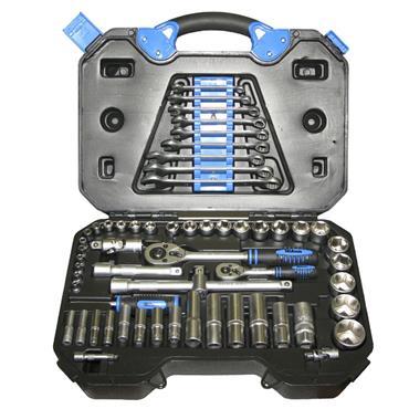 Tala 1/4in & 1/2in Drive Metric Socket & Accessory Set 58 Piece   TAL69603
