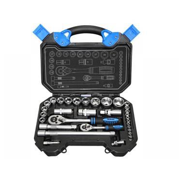Tala 1/4in & 1/2in Drive Metric Socket & Accessory Set 32 Piece   TAL69604