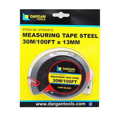 Dargan 30 Metre (100 FT) Steel Measuring Tape | MTS30/DT2