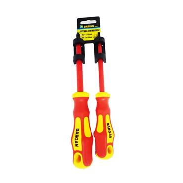 "Dargan 2 Piece Insulated Screwdriver Set (4"" Slotted / Philips no.2) SD2/DT"