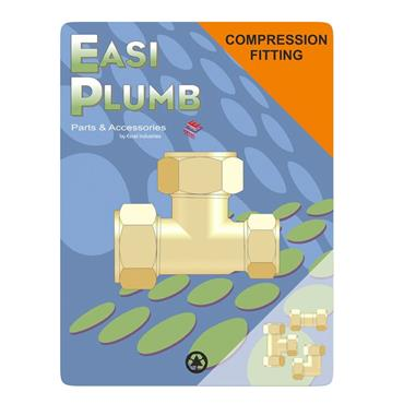 """Easi Plumb 3/4"""" x 1/2"""" x 3/4"""" Unqual Tee Reduced End 318 