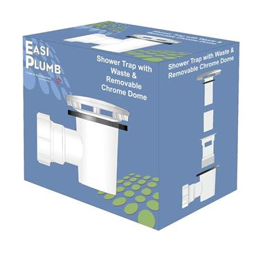 """Easi Plumb 1 1/2"""" Combined Shower & Trap Chrome 
