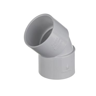 Easi Plumb 32mm 45 Degree Waste Fitting Bend Pack of 2 | EP32BW