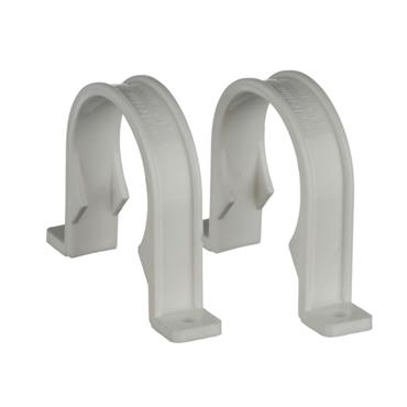 Easi Plumb 40mm Waste Pipe Fitting Clips Pack of 2 | EP40PCW