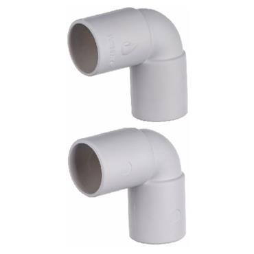 Easi Plumb 90 Degree Overflow Elbow Coupling Pack of 2 | EPOF12