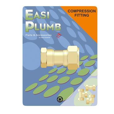 "Easi Plumb 1/2"" x 3/4"" F.I. Straight Coupling 312 | EP3121234"