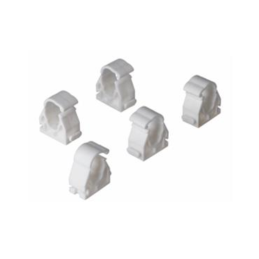 """Easi Plumb 1/2"""" White Hinged Pipe Clips Pack of 10 