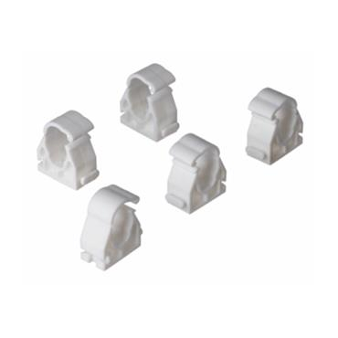 Easi Plumb 22mm White Hinged Clips Pack of 5 | EP22PICC