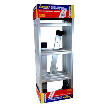 Safeline 3 In 1 Multi-Purpose 4 Way Ladder (3.7m Fully Extended) | FE4X3E