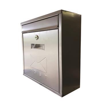 De Vielle Contemporary Stainless Steel Letter Box   Tsh031z