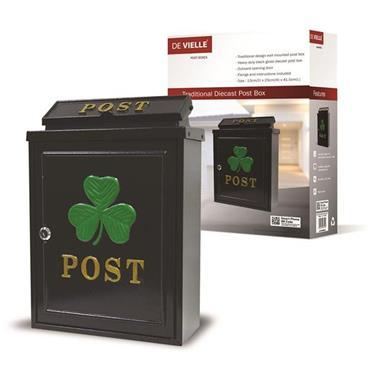 De Vielle Gold Failte Green Shamrock Diecast Letter Box   HJH057430