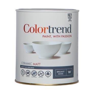 Colourtrend 1 Litre Ceramic Matt - White   M00263