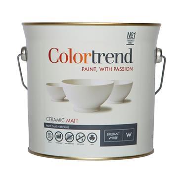 Colourtrend 3 Litre Ceramic Matt - White   M00264