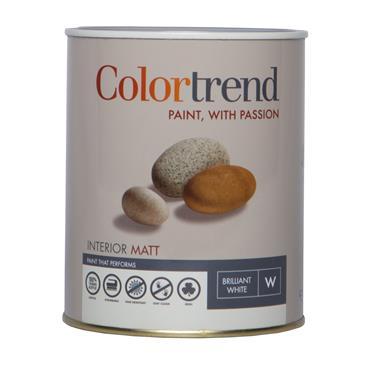 Colourtrend 1 Litre Interior Matt - White   M00808