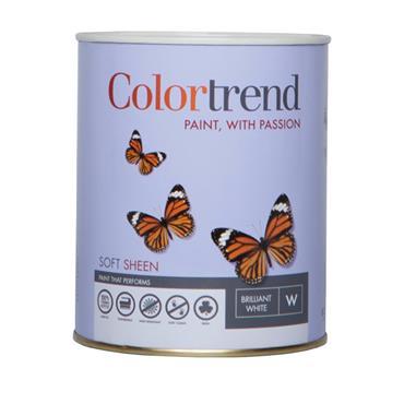 Colourtrend 1 Litre Soft Sheen - White   M00827
