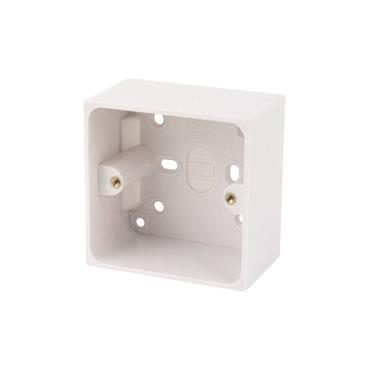 Powermaster 1 Gang 47mm Surface Pattress Socket Box | 1523-14
