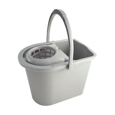 Premier 14 Litre Plastic Mop Bucket - Grey | 0061-32