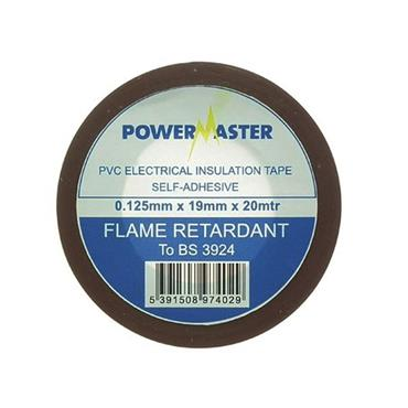 Powermaster 19mm Insulating Tape 20 Metre - Brown | 1799-14