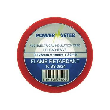 Powermaster 19mm Insulating Tape 20 Metre - Red | 1799-18