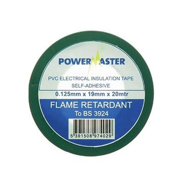 Powermaster 19mm Insulating Tape 20 Metre - Green | 1799-24