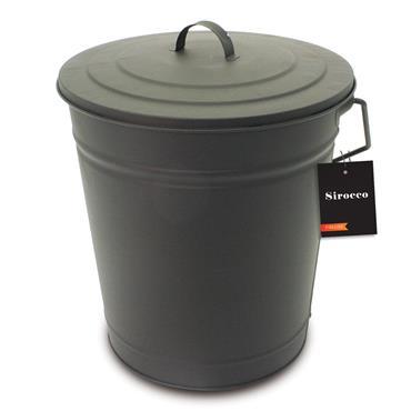 Sirocco Metal Coal Tub & Lid - 32cm   71163