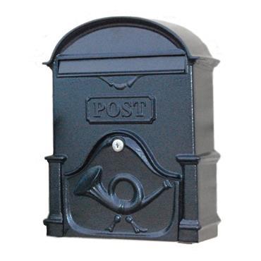 The Brosna A4 Cast Aluminium Letterbox Postbox - Antique Black