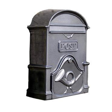 The Moy A4 Deep Cast Aluminium Letterbox Letterbox Postbox - Antique Silver