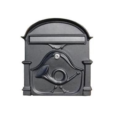 The Al Small Cast Aluminium Letterbox Postbox - Graphite Black