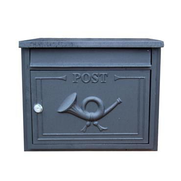 The Danube Through The Wall Cast Aluminium Letterbox Postbox - Antique Silver