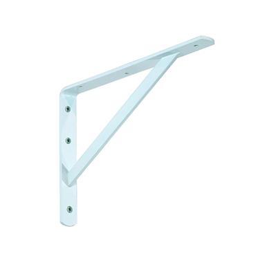 Industrial Shelf Bracket 300mm x 210mm - White | ELE121Z
