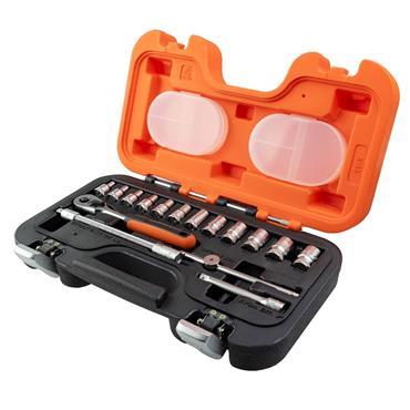 Bahco 160 Socket Set of 16 Metric 1/4in Drive   BAHS160