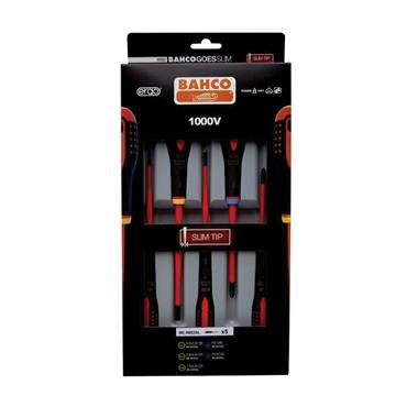 Bahco Insulated Screwdriver Set of 5 SL/PZ   BAHB220015