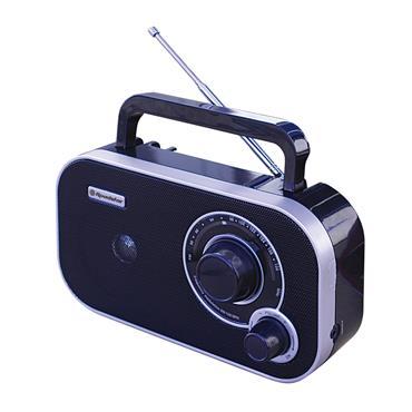 Roadstar Portable Analog Radio AC/DC - Black | ROATRA-2235BK