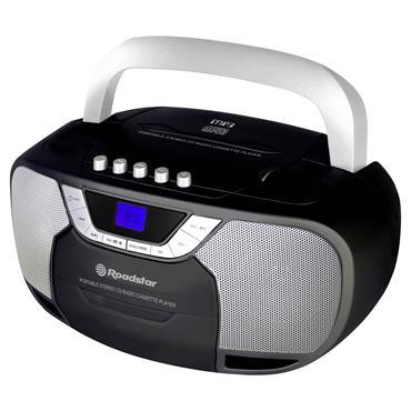 Roadstar CD Radio Cassette Tape Player - Black | RCR-4625UBK