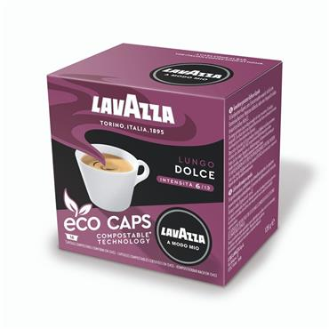 Lavazza Lungo Dolce Compostable Coffee Pods Capsules 16 Pack | 8972