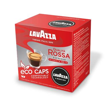 Lavazza Qualita Rossa Compostable Coffee Pods Capsules 16 Pack | 8975